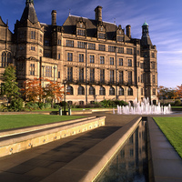 Buy canvas prints of Sheffield Town Hall & Peace Gardens by Darren  Galpin