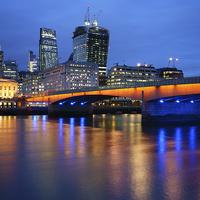 Buy canvas prints of London Bridge Reflections by Darren  Galpin