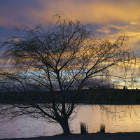 Buy canvas prints of Rother Valley Sunset by Darren  Galpin
