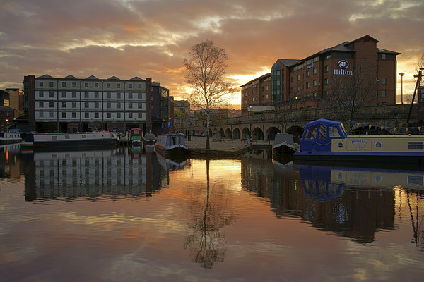 Victoria Quays Sunset, Sheffield Framed Mounted Print by Darren  Galpin