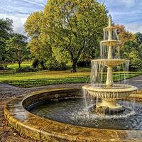 Buy canvas prints of Sheffield Botanical Gardens Fountain by Darren  Galpin