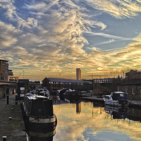 Buy canvas prints of Sheffield Canal Sunset by Darren  Galpin