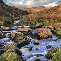Buy canvas prints of Burbage Brook in Autumn by Darren  Galpin