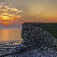 Buy canvas prints of Nash Point Sunset  by Darren  Galpin