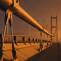Buy canvas prints of Humber Bridge at Sunset by Darren Galpin