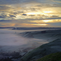 Buy canvas prints of Hope Valley Sunrise 2 by Darren Galpin