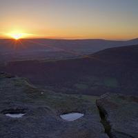 Buy canvas prints of Bamford Edge Sunset  by Darren Galpin