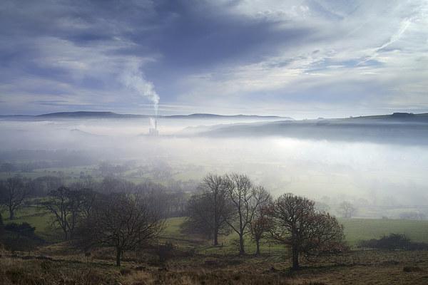 Hope Valley Mist  Canvas Print by Darren Galpin