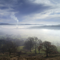 Buy canvas prints of Hope Valley Mist  by Darren Galpin