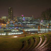 Buy canvas prints of Sheffield City Centre at Night  by Darren Galpin