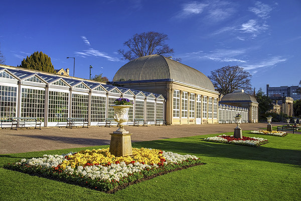 Sheffield Botanical Gardens and Pavilions Canvas Print by Darren Galpin