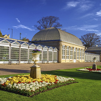 Buy canvas prints of  Sheffield Botanical Gardens and Pavilions by Darren Galpin