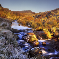 Buy canvas prints of Burbage Brook & Carl Wark by Darren Galpin