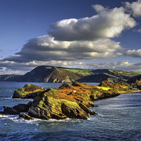 Buy canvas prints of Watermouth Cove, North Devon  by Darren Galpin