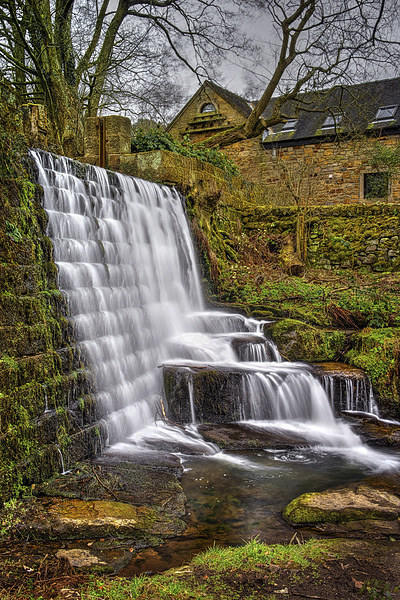 Lumsdale Falls and Dam  Canvas print by Darren Galpin