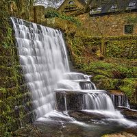 Buy canvas prints of Lumsdale Falls and Dam  by Darren Galpin