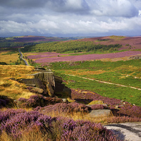 Buy canvas prints of Burbage Rocks and Valley  by Darren Galpin