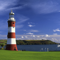 Buy canvas prints of Smeatons Tower on Plymouth Hoe by Darren Galpin