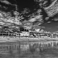 Buy canvas prints of Lyme Regis Seafront in Mono  by Darren Galpin