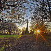Buy canvas prints of The Cholera Monument Sunset   by Darren Galpin