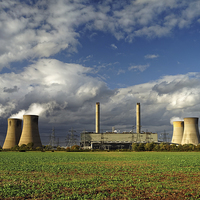 Buy canvas prints of Stormy Skies over West Burton Power Stations by Darren Galpin