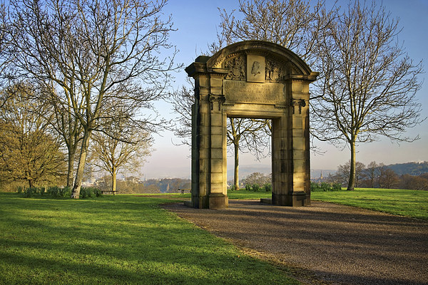Memorial Arch, Norfolk Heritage Park, Sheffield Framed Mounted Print by Darren Galpin