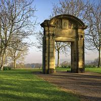 Buy canvas prints of Memorial Arch, Norfolk Heritage Park, Sheffield by Darren Galpin