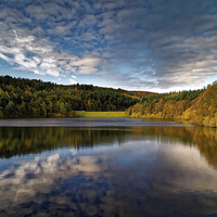 Buy canvas prints of Rivelin Dams Reflections by Darren Galpin
