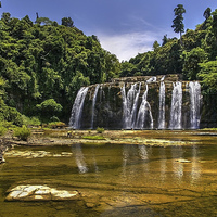 Buy canvas prints of Tinuy-an Falls,Mindanao,Philippines  by Darren Galpin