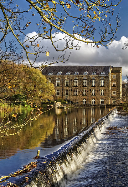Bamford Weir and Mill  Canvas print by Darren Galpin