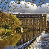 Buy canvas prints of Bamford Weir and Mill  by Darren Galpin