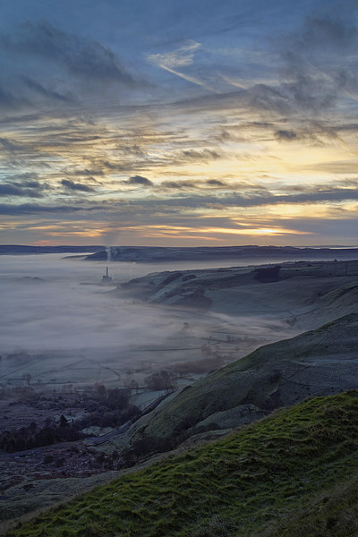 Hope Valley Inversion and Sunrise  Canvas print by Darren Galpin