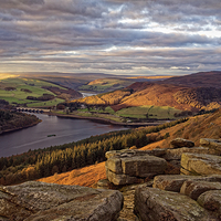Buy canvas prints of Golden Views of Ladybower  by Darren Galpin