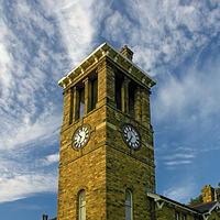 Buy canvas prints of Firth Park Clock Tower, Sheffield by Darren Galpin