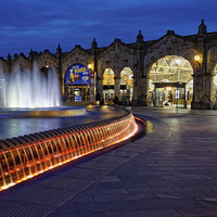 Buy canvas prints of Sheaf Square at Night  by Darren Galpin