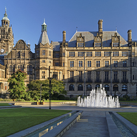 Buy canvas prints of Sheffield Town Hall and Peace Gardens   by Darren Galpin