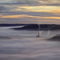 Buy canvas prints of Inversion Sunrise in the Hope Valley  by Darren Galpin