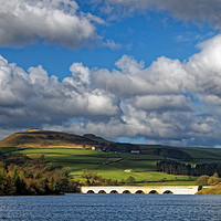 Buy canvas prints of Clouds gathering over Ladybower by Darren Galpin