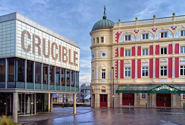 Crucible & Lyceum Theatres, Sheffield  Canvas print by Darren Galpin
