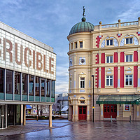 Buy canvas prints of Crucible & Lyceum Theatres, Sheffield  by Darren Galpin
