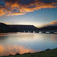 Buy canvas prints of Ladybower Sunrise by Darren Galpin