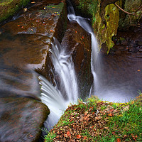 Buy canvas prints of Lumsdale Falls by Darren Galpin