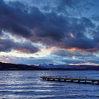 Buy canvas prints of Windermere at Dusk                                by Darren Galpin