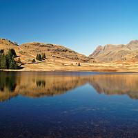 Buy canvas prints of Blea Tarn Reflections                      by Darren Galpin