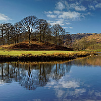 Buy canvas prints of River Brathay Reflections                          by Darren Galpin