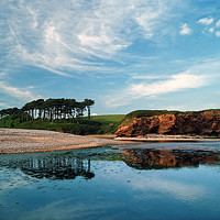 Buy canvas prints of Coastline at Budleigh Salterton                    by Darren Galpin