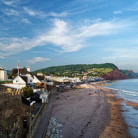 Buy canvas prints of Evening Light over Sidmouth                       by Darren Galpin