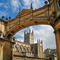 Buy canvas prints of Bath Abbey and Arch                     by Darren Galpin