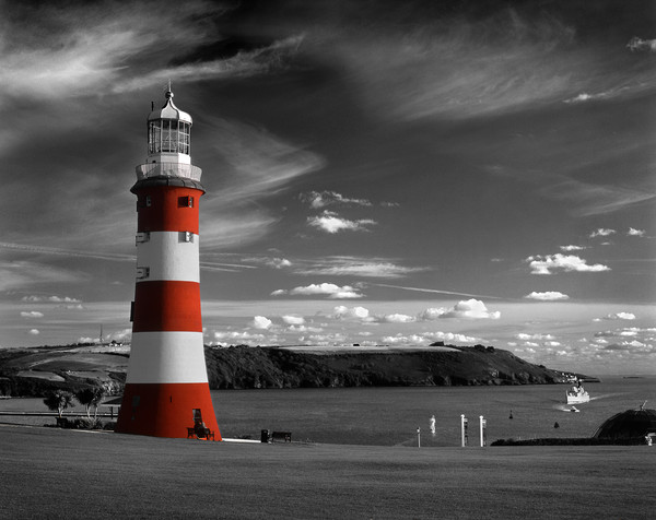Smeatons Tower on Plymouth Hoe Framed Mounted Print by Darren Galpin