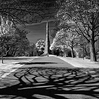 Buy canvas prints of Cholera Monument, Infra Red                        by Darren Galpin